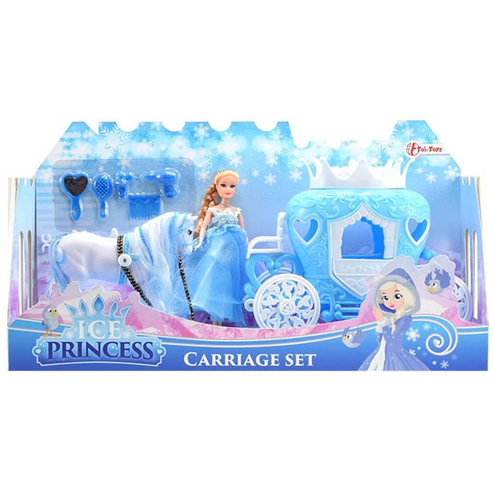Toi-Toys ijsprinses met koets en paard speelset