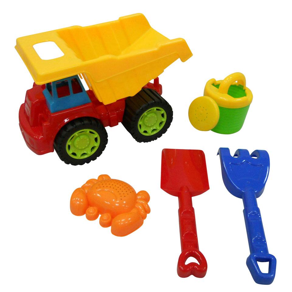 Zandtruck met shovel en accessoires