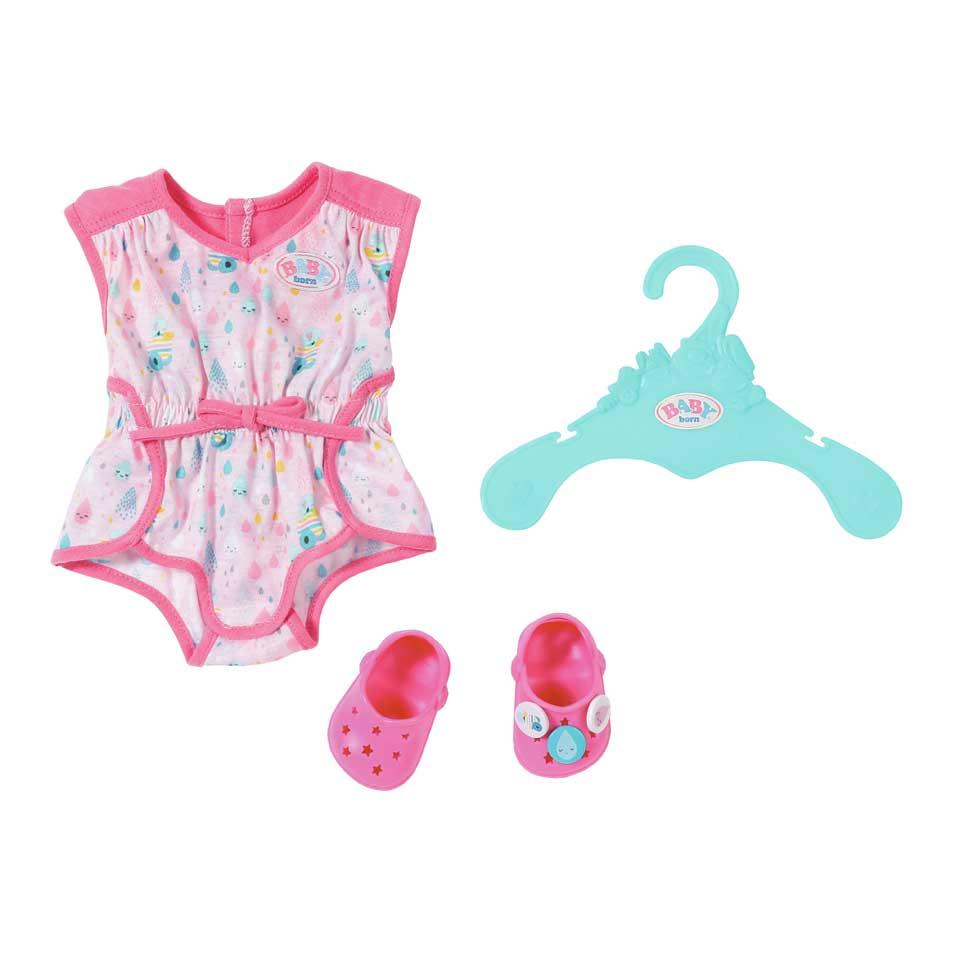 BABY born pyjama met schoenen - roze