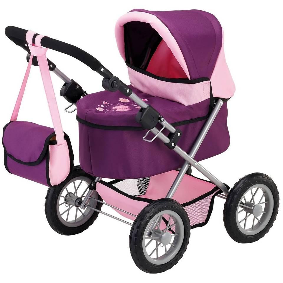 Bayer poppenwagen - paars/roze