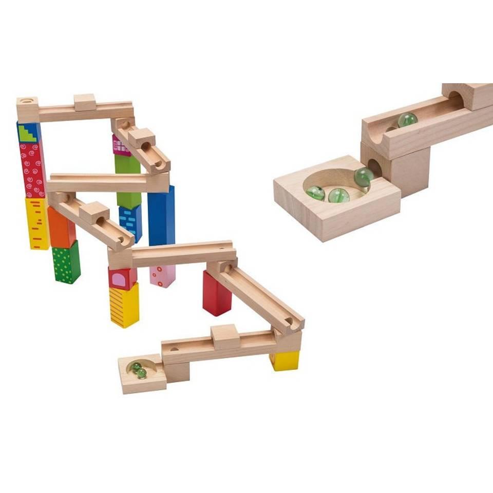 Jouéco houten knikkerbaan 33-delig