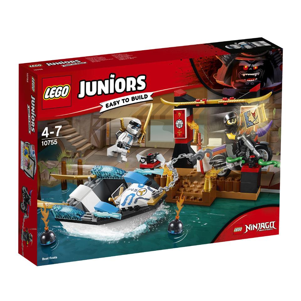 LEGO Juniors Zane's ninjabootachtervolging 10755
