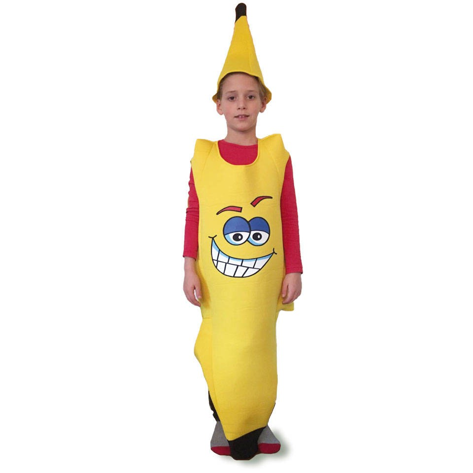 Bananen kostuum kinderen met opdruk