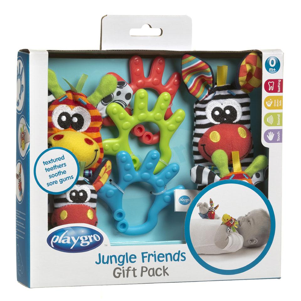 Playgro cadeauset jungle voet- en polsrammelaar