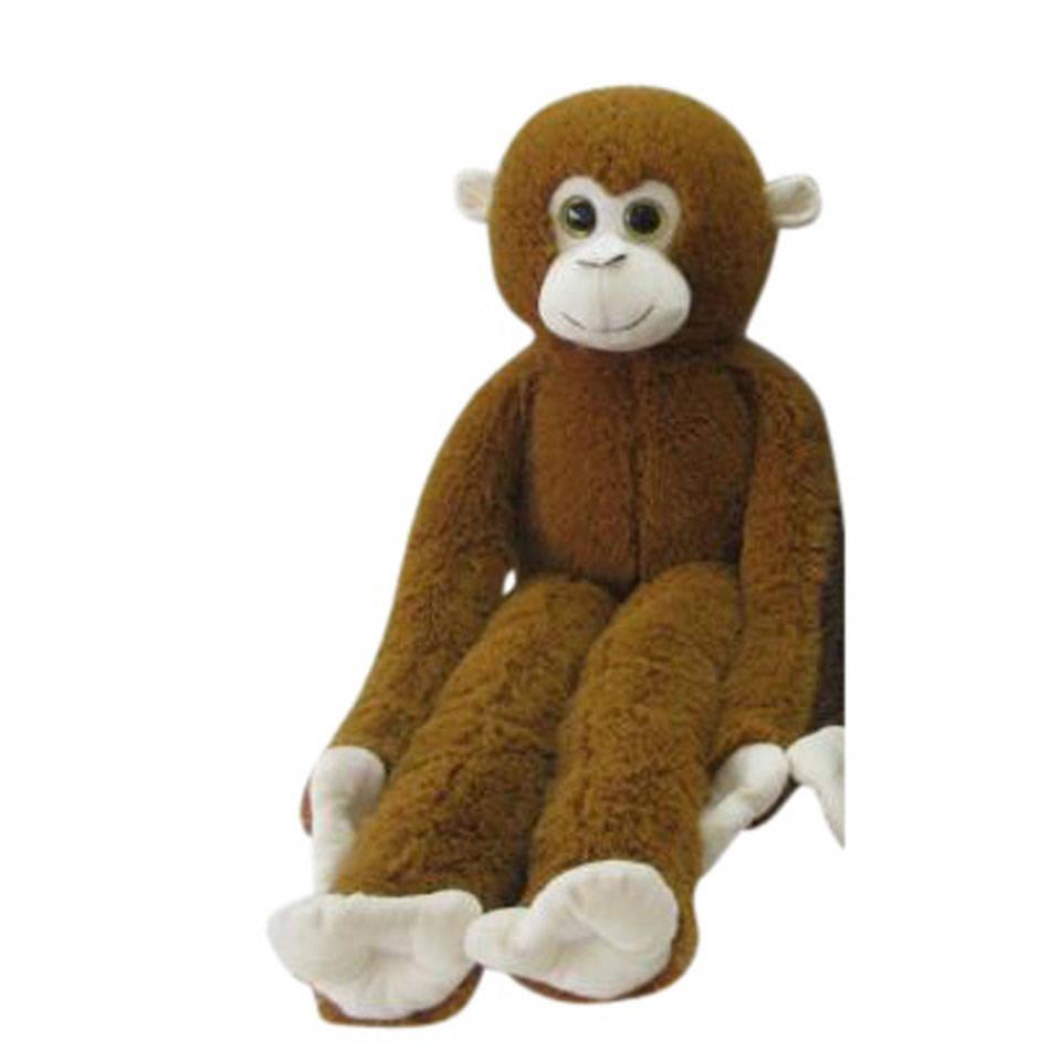 Knuffel aap met lange armen - donkerbruin