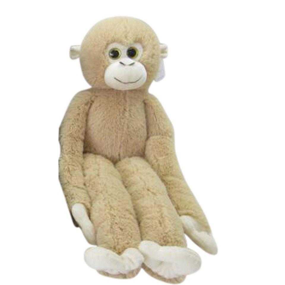 Knuffel aap met lange armen - lichtbruin