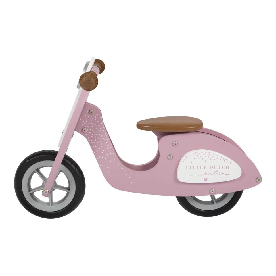 Little Dutch houten loopscooter - roze