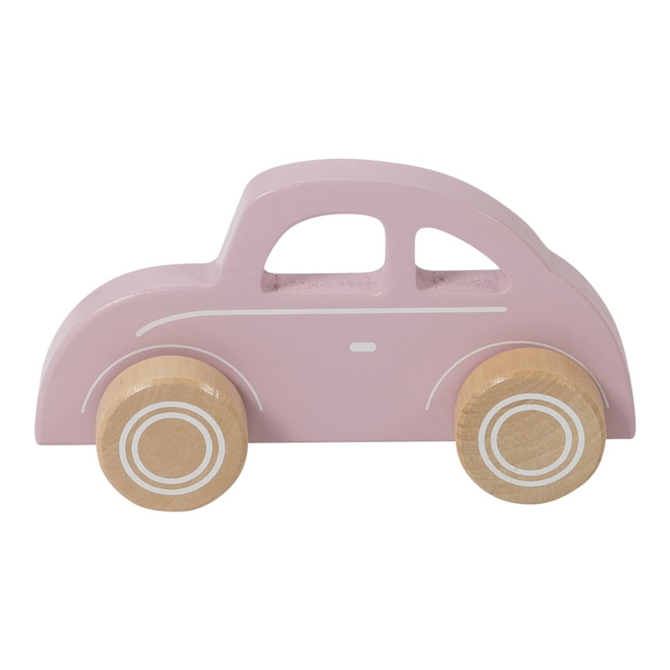 Little Dutch houten auto - roze