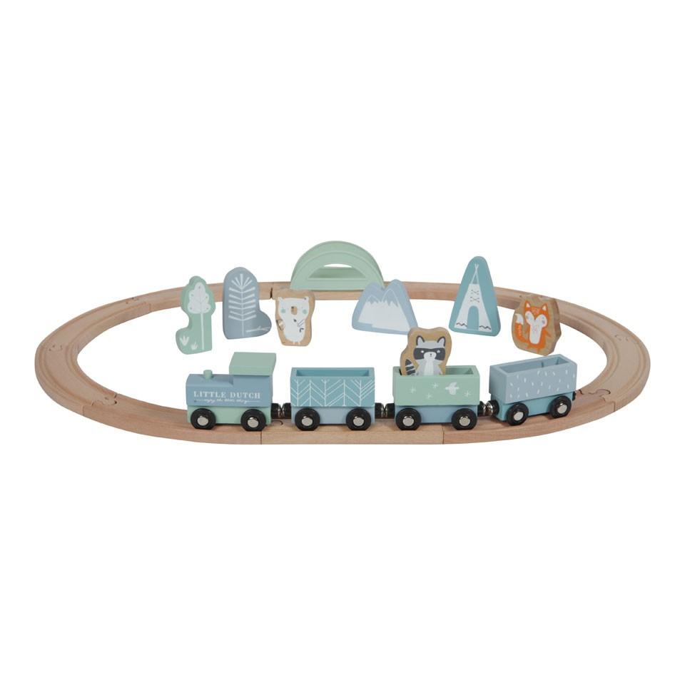 Little Dutch treinset - blauw