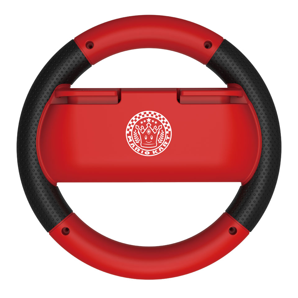 Nintendo Switch Hori MK8 Deluxe Racing Wheel Mario - rood