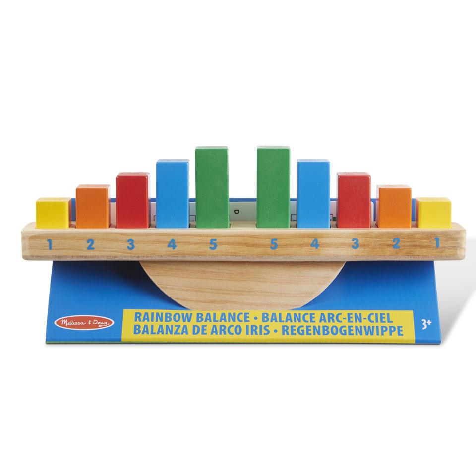 Melissa & Doug regenboog houten balans speelset - 13 onderdelen