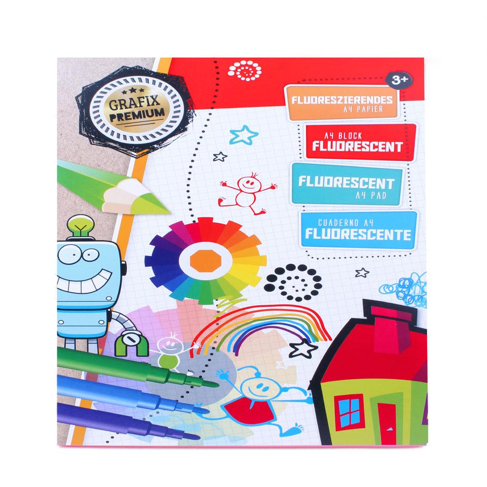 Fluoriserend A4 knutselblok