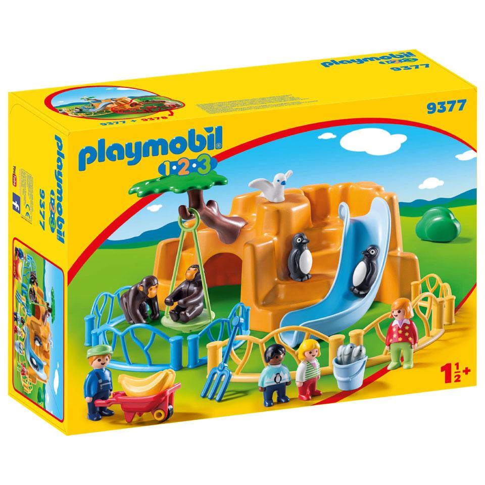 PLAYMOBIL 1.2.3 dierenpark 9377