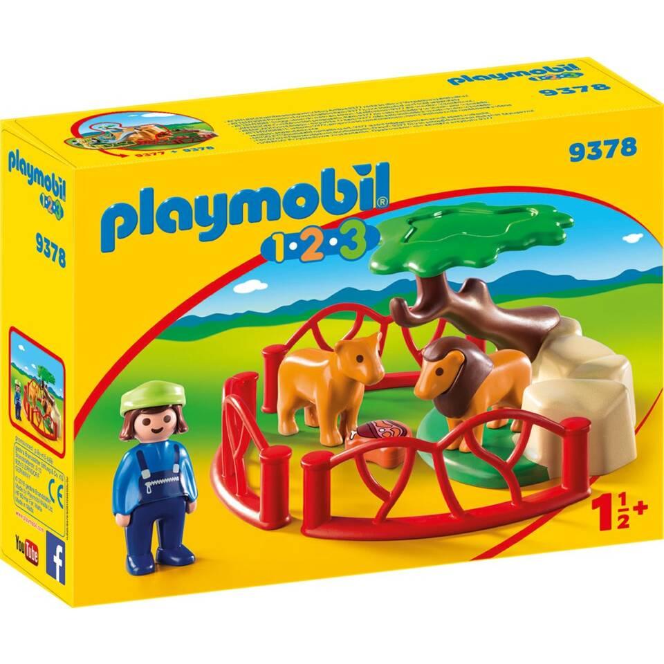 PLAYMOBIL 1.2.3 leeuwenverblijf 9378