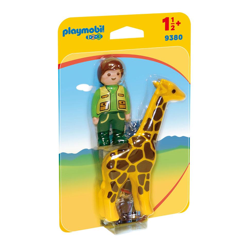 PLAYMOBIL City Life dierenverzorger met giraf 9380