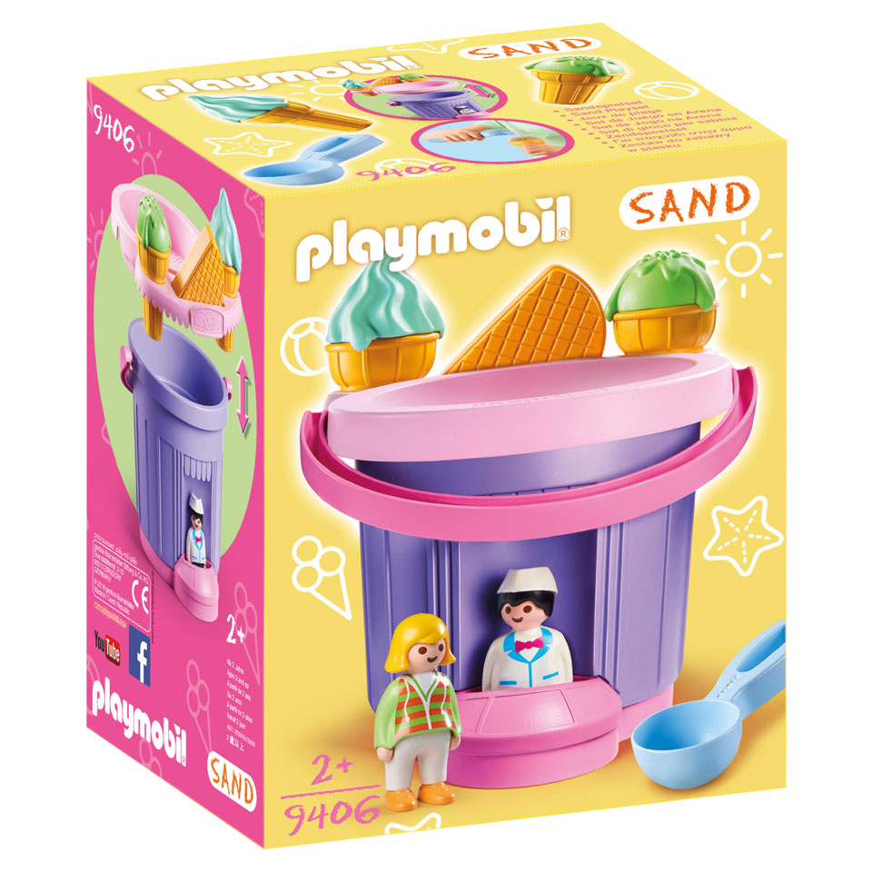 PLAYMOBIL Sand zandemmer ijssalon 9406