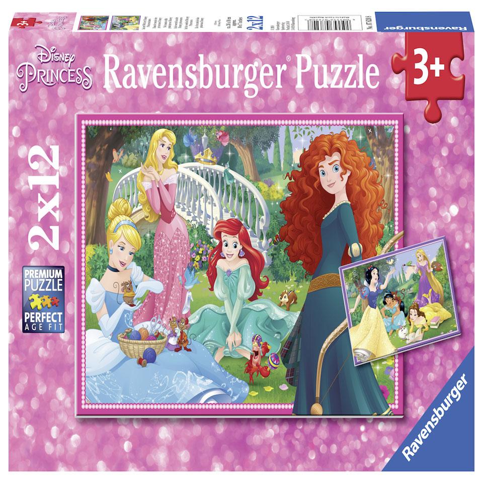 Ravensburger puzzelset Wereld van Disney prinsessen - 2 x 12 stukjes