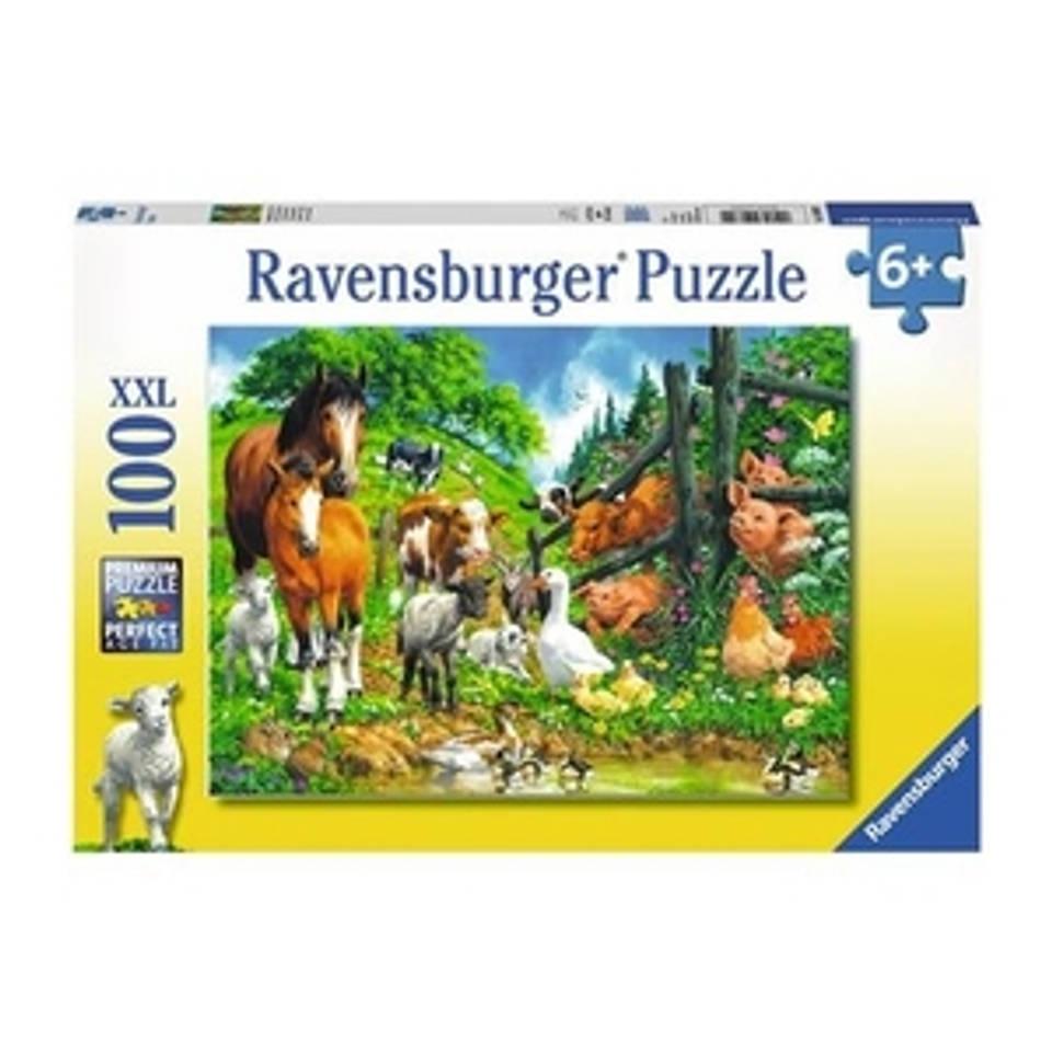 Ravensburger puzzel Dierenbijeenkomst - 100 stukjes