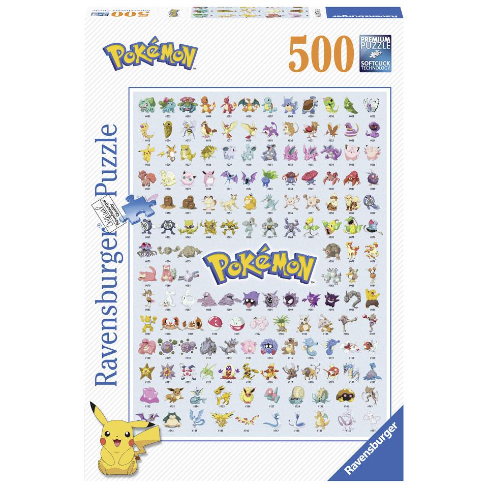 Ravensburger puzzel Eerste generatie Pokémon - 500 stukjes