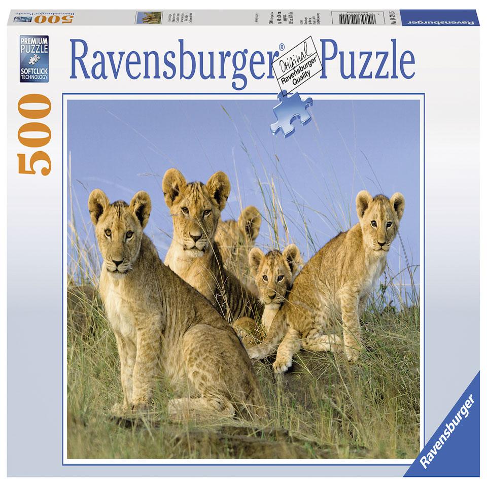 Ravensburger puzzel Leeuwenwelpen - 500 stukjes