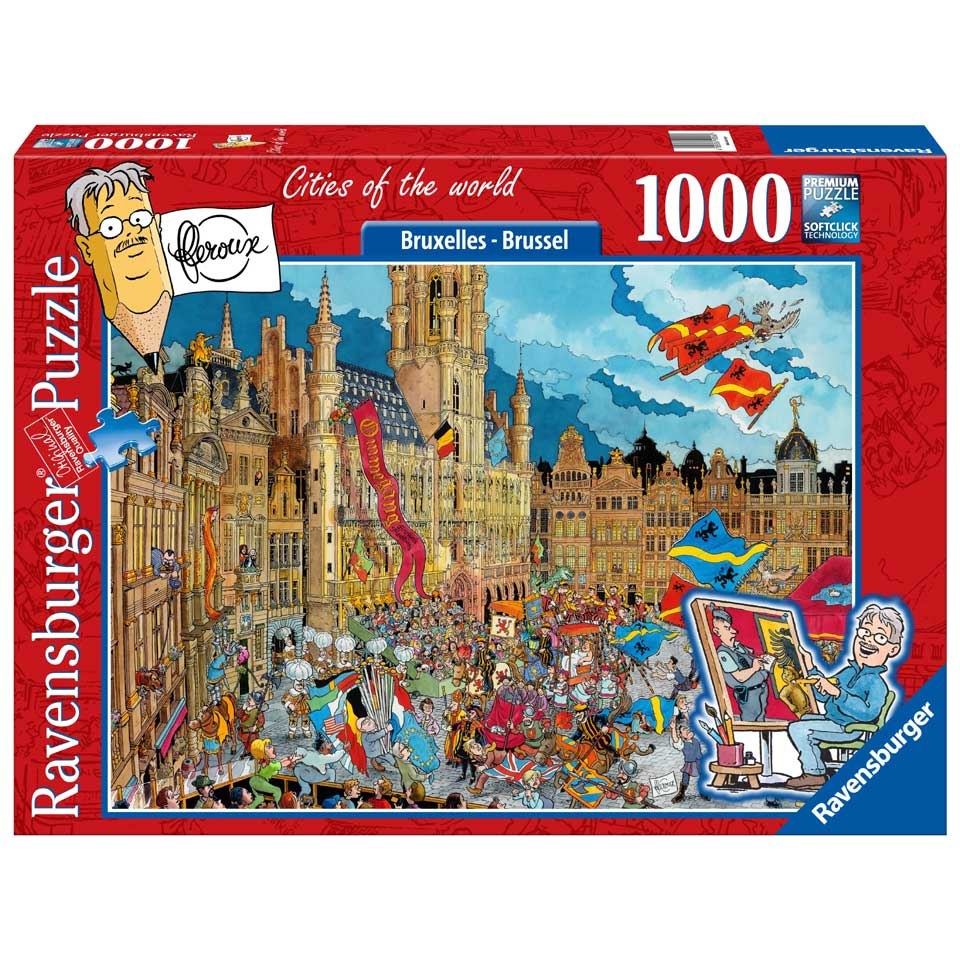 Ravensburger puzzel Fleroux Cities of the world: Brussel - 1000 stukjes