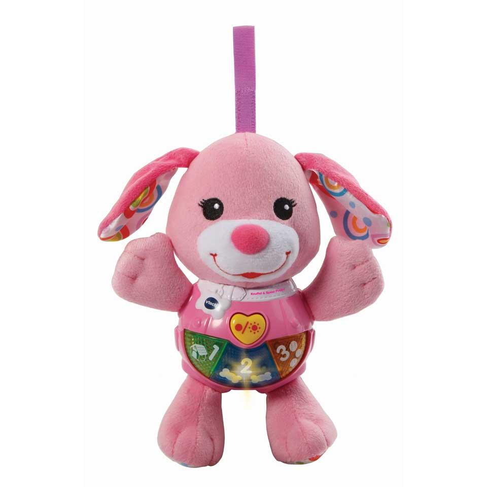VTech Baby knuffel en speel puppy - roze