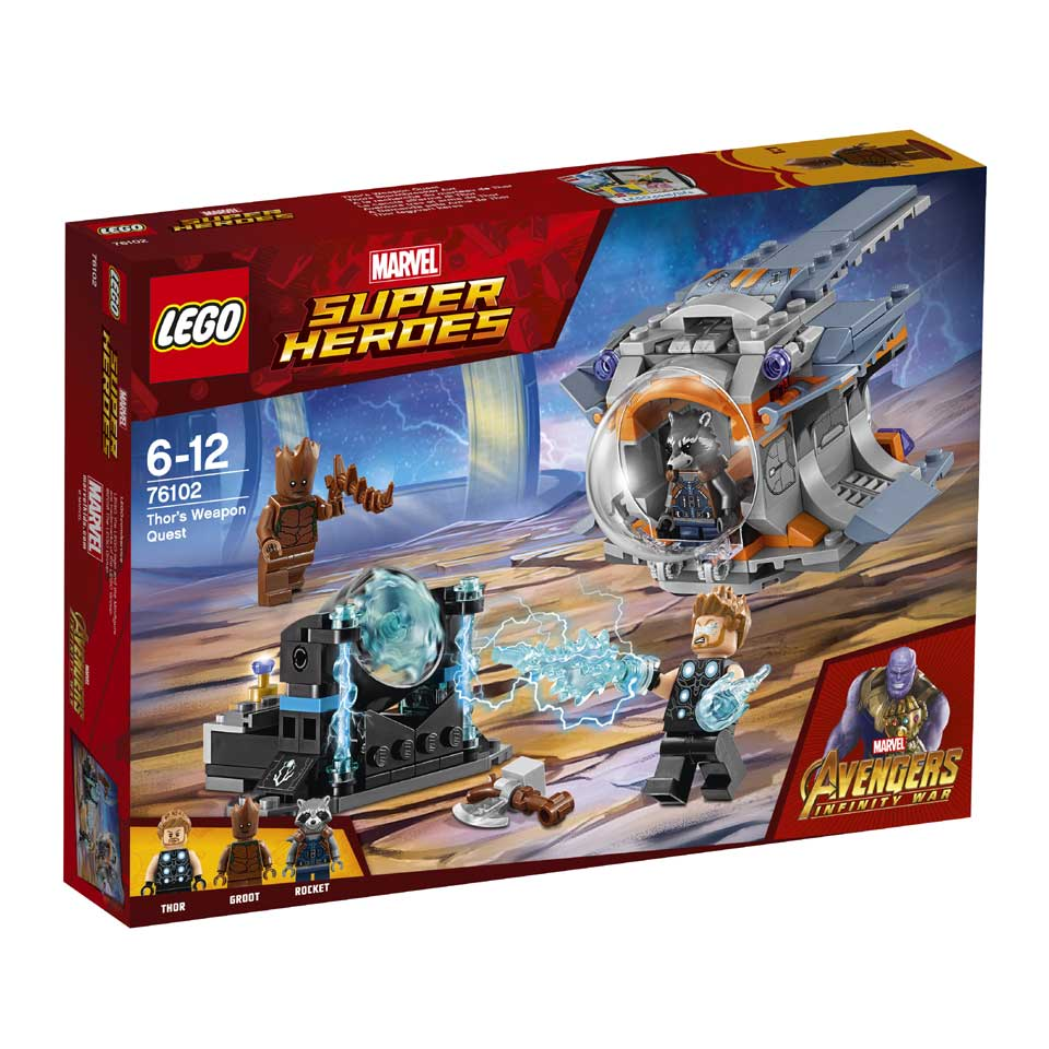 LEGO Marvel Super Heroes Thors wapenzoektocht 76102