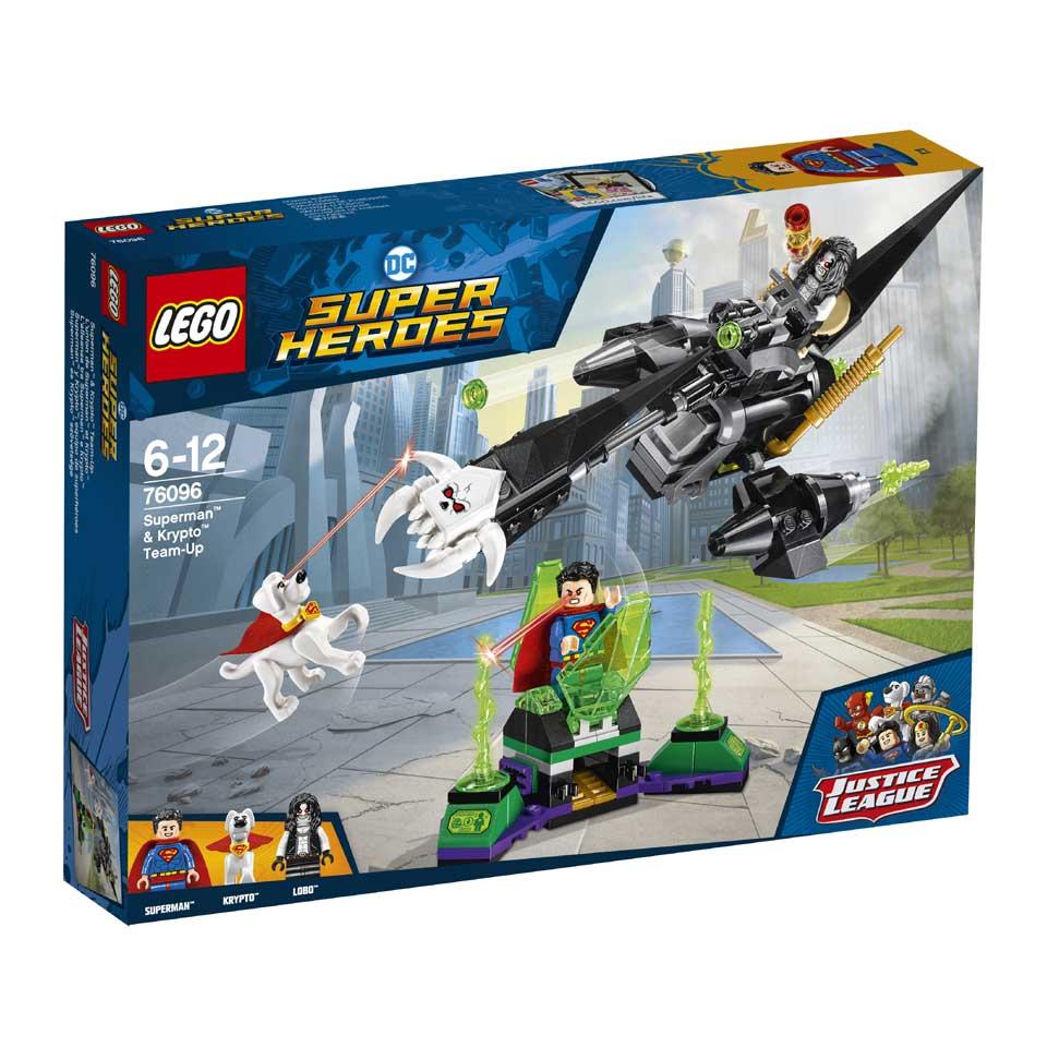 LEGO DC Comics Super Heroes Superman en Krypto werken samen 76096