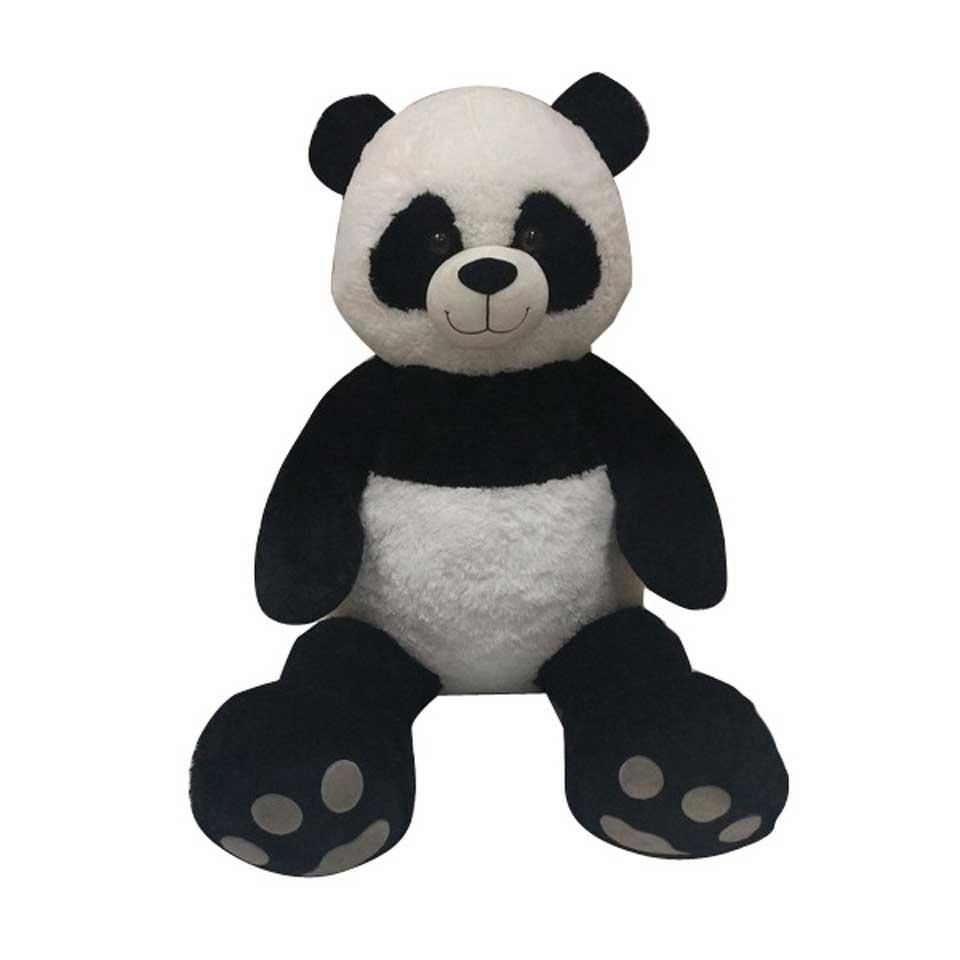 Zittende panda knuffel - 130 cm