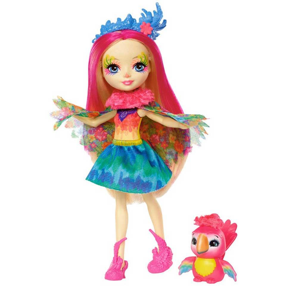 Enchantimals pop Peeki papegaai met diertje