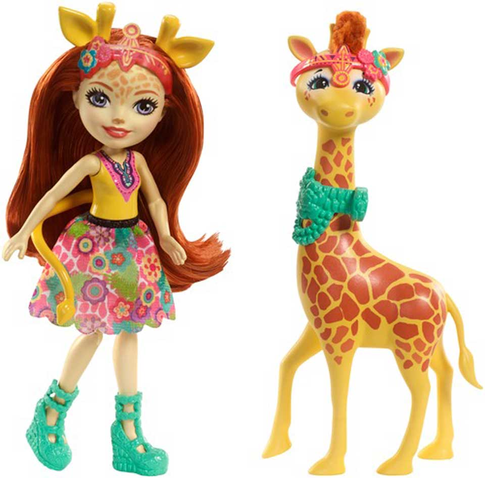 Enchantimals Gillian Giraffe met dier