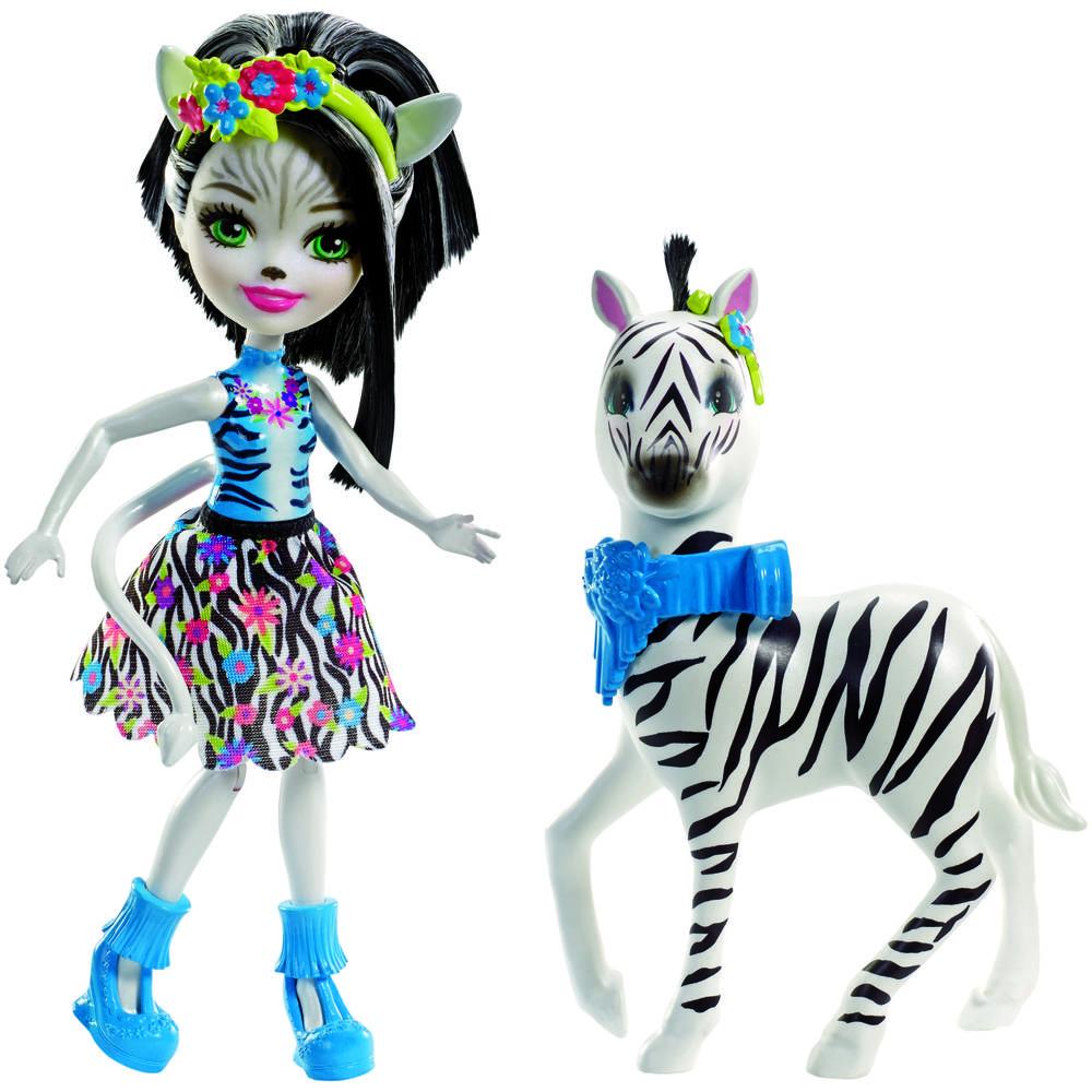 Enchantimals Zelena Zebra met dier