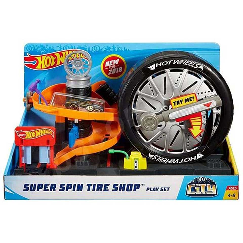 Hot Wheels City Super Spin Tire Shop speelset