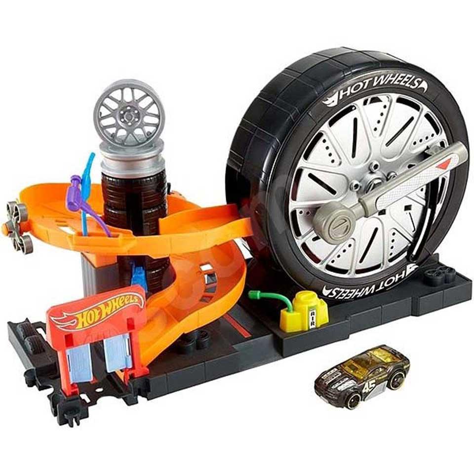 Hot Wheels City Super Spin Tire Shop speelset