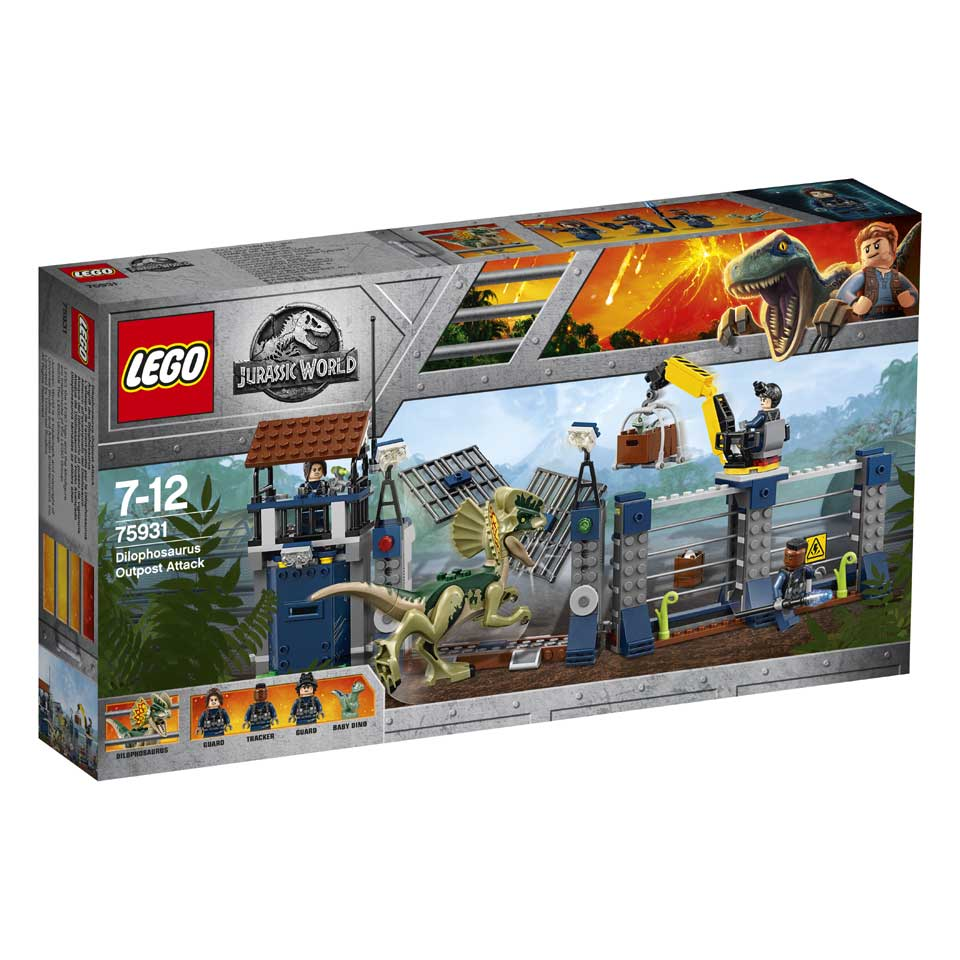 LEGO Jurassic World aanval op de uitkijktoren van Dilophosaurus 75931