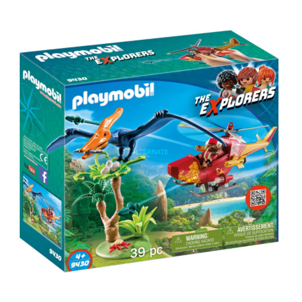 PLAYMOBIL Dinos helikopter met Pteranodon 9430