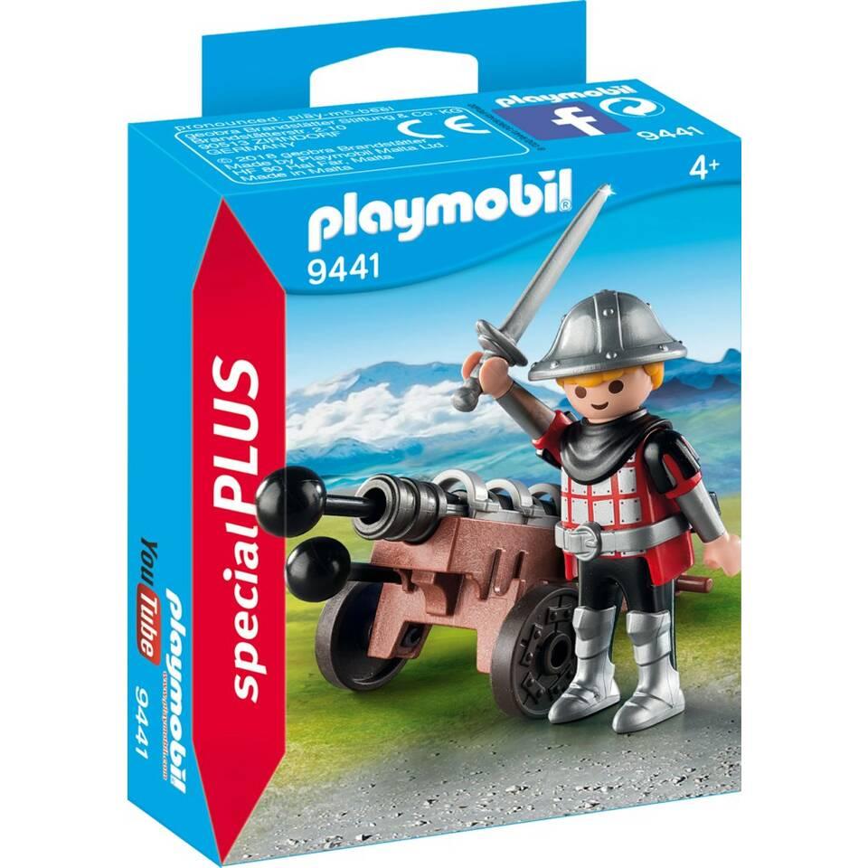 PLAYMOBIL SpecialPLUS ridder met kanon 9441