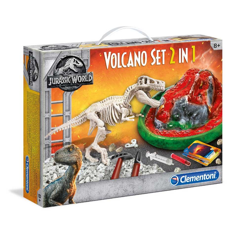 Clementoni Jurassic World vulkaan + T-rex