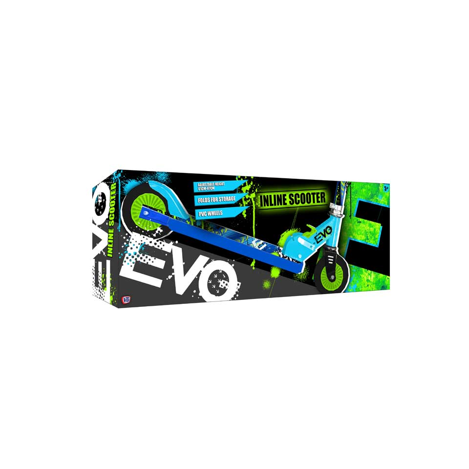 EVO inklapbare step - blauw/groen