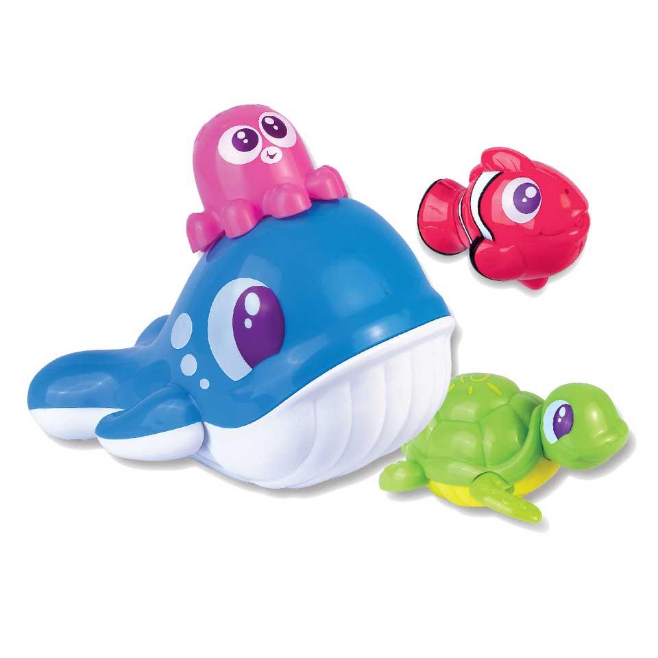 Badspeeltjes walvis met vrienden