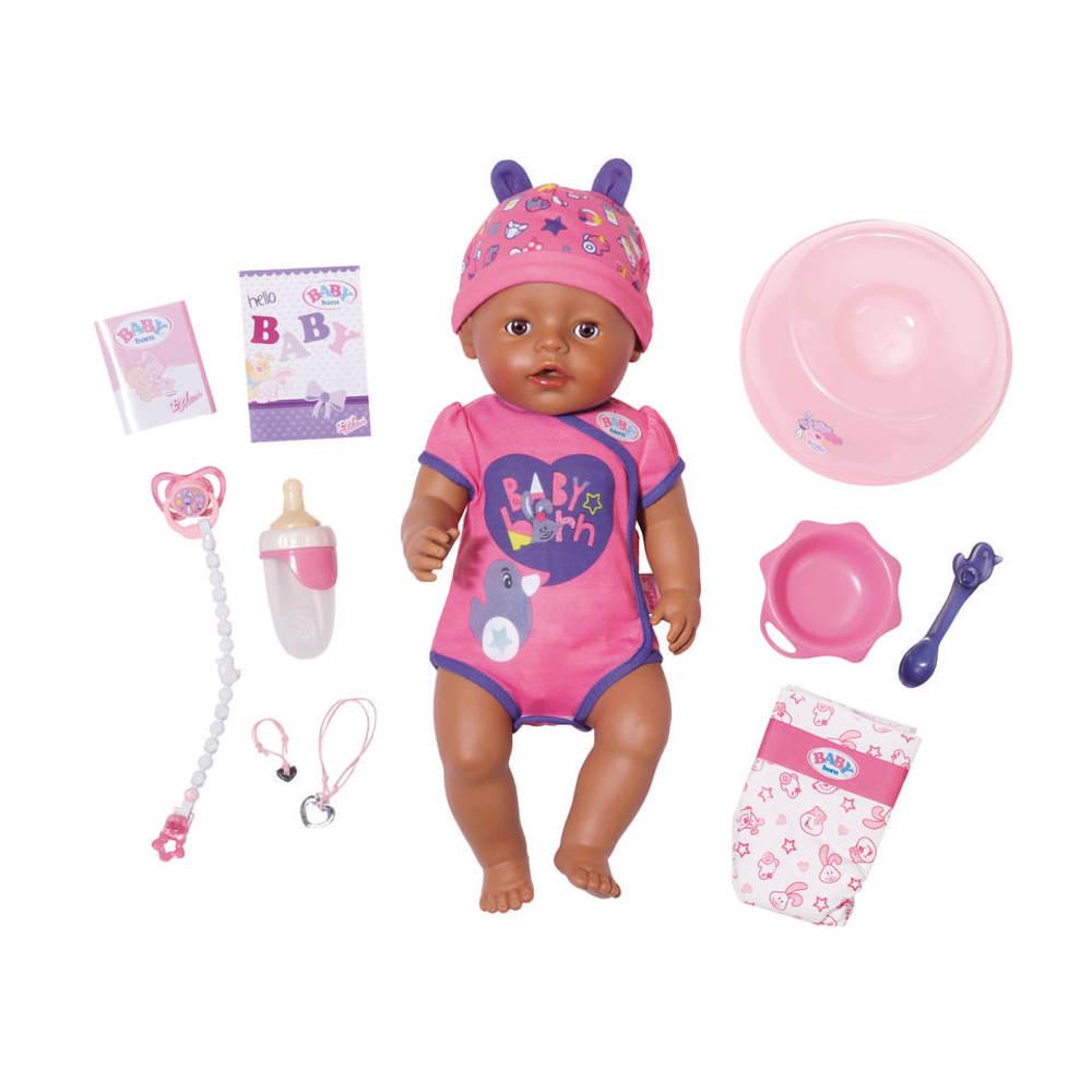 BABY born soft touch pop meisje - paars/roze