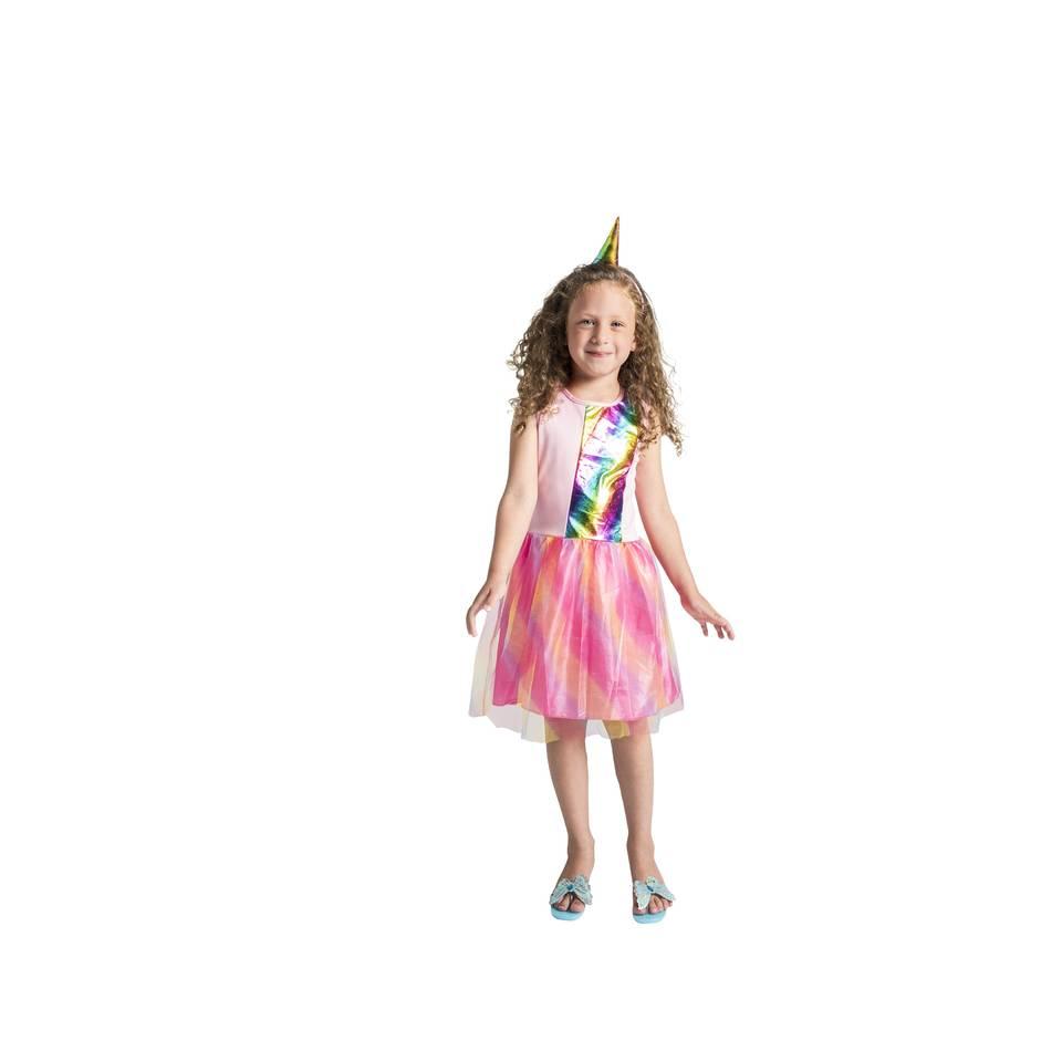 Eenhoornjurk met haarband - 5-7 jaar