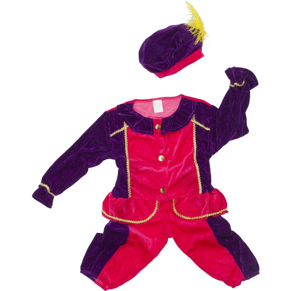 Pietenpak - maat 116 - roze/zwart