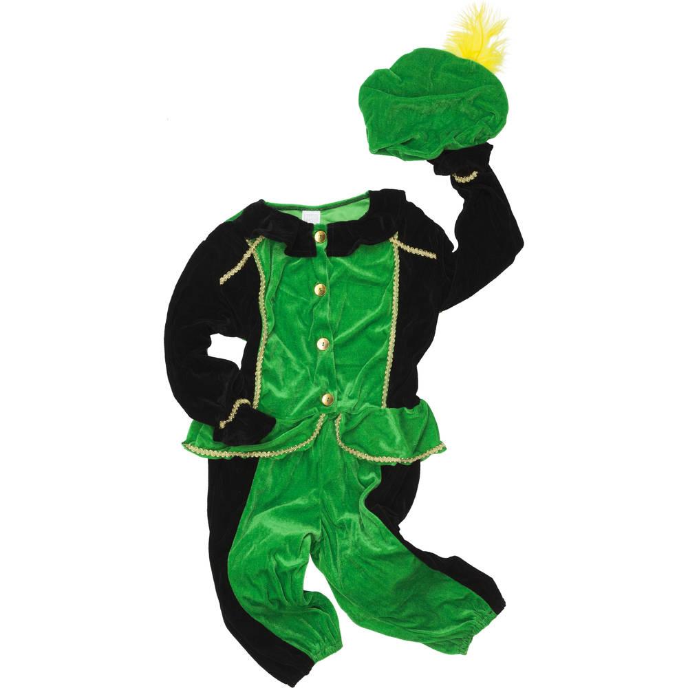 Pietenpak - maat 116 - groen/zwart
