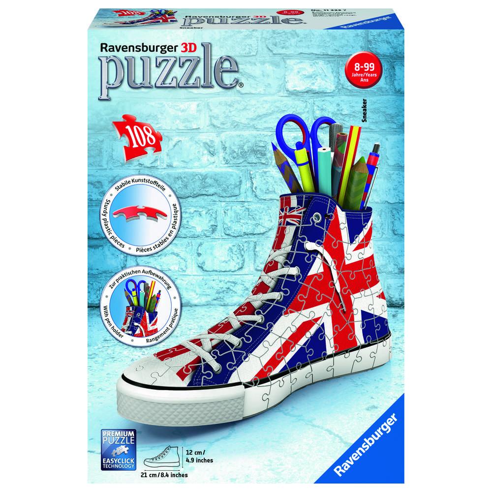 Ravensburger 3D-puzzel sneaker Engelse vlag - 108 stukjes