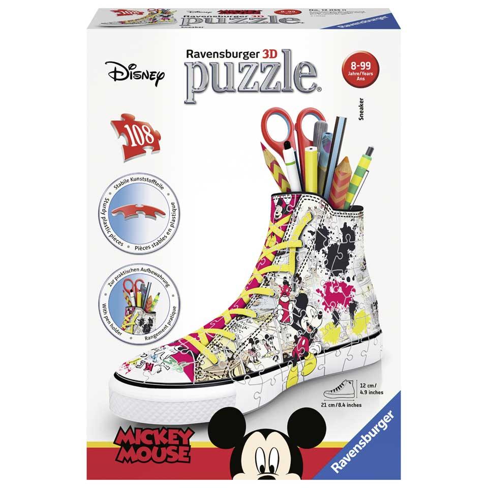 Ravensburger 3D-puzzel sneaker Mickey Mouse - 108 stukjes