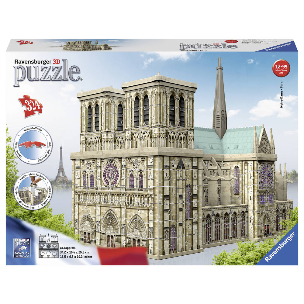 Ravensburger 3D-puzzel Notre Dame Parijs - 216 stukjes