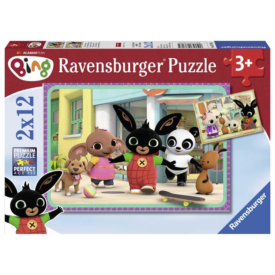 Ravensburger puzzel Bing Bunny - 2 x 12 stukjes