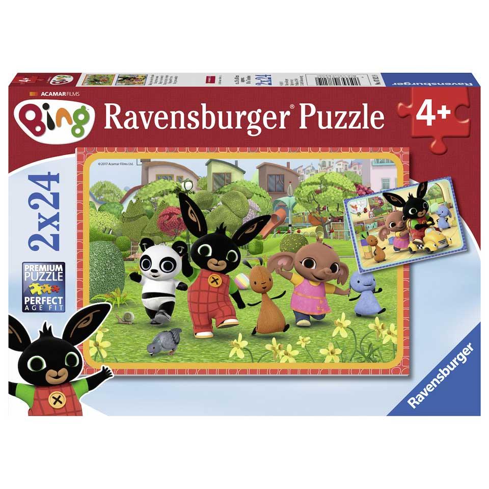 Ravensburger puzzel Bing Bunny - 2 x 24 stukjes