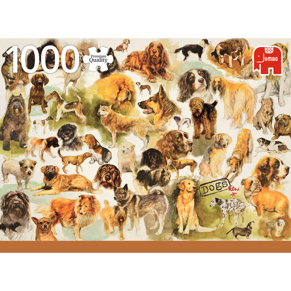 Jumbo Premium Collection puzzel hondenposter - 1000 stukjes